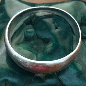 Silvertone bangle bracelet
